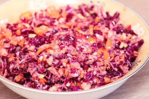Thermomix Rotkohl-Karotten-Apfel-Rohkost